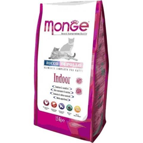 Сухой корм для кошек Monge Natural Superpremium, для живущих в помещении, с курицей 10 кг