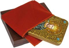 Инкрустированная Икона Святой Благоверный князь Вячеслав Чешский 20х15см на натуральном дереве, в подарочной коробке