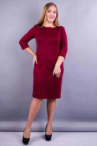 Аріна масло. Сукня для жінок плюс сайз. Бордо.