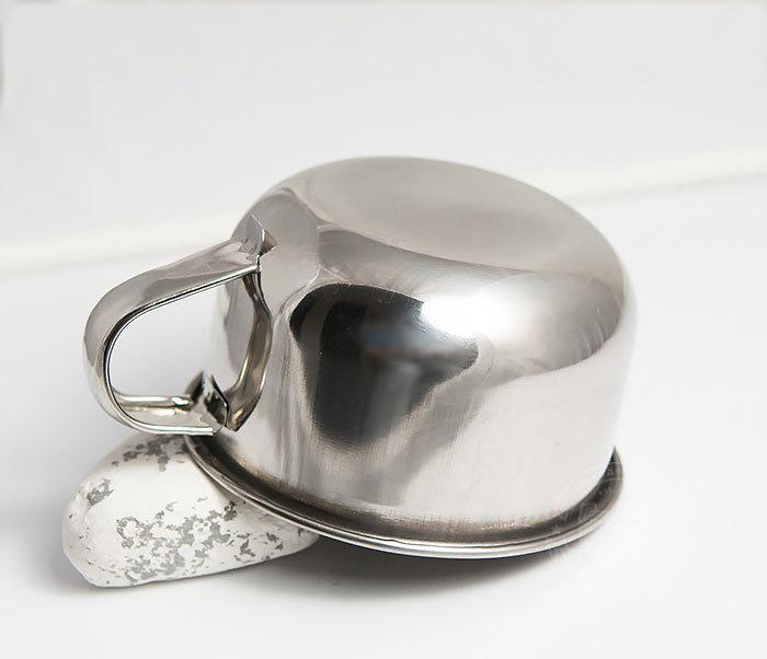 RAZ311 Чаша для бритья из стали с ручкой фото 05