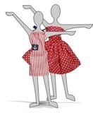 Два хлопковых платья - Демонстрационный образец. Одежда для кукол, пупсов и мягких игрушек.