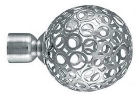 Ажур Серебро глянец наконечники на карниз кованый d 16