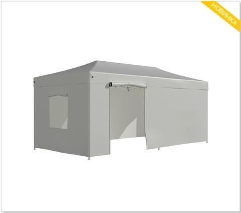Тент-шатер быстросборный Helex 3x6х3м полиэстер белый