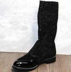 Черные полусапожки женские Kluchini 5161 k255 Black