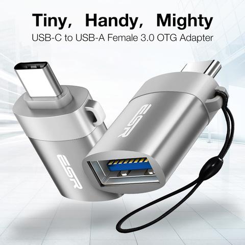 Адаптер ESR Converter USB-A/ Type-C USB 3,0 до 5 Гбит/с (серый)