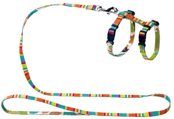 Ошейники, поводки Шлейка для кошек и собак, Hunter Smart Stripes, нейлон разноцветная 91382.jpg
