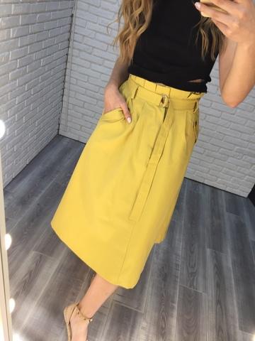 юбка летняя желтая недорого