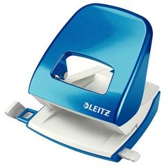 Дырокол Leitz Nexxt до 30 листов синий с линейкой