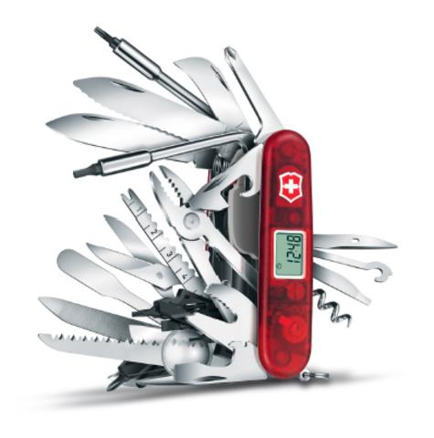 Нож Victorinox SwissChamp XAVT, 91 мм, 81 функция, красный (подар. упаковка)123