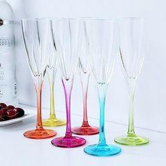 Набор фужеров 6 шт для шампанского RCR Fusion 170 мл, цветные, фото 4
