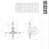 Встраиваемый термостатический смеситель для душа TZAR 348712SNM черный, на 2 выхода - фото №2
