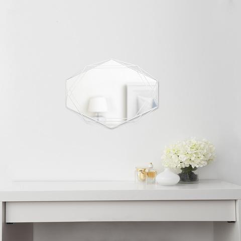 Зеркало декоративное Prisma белое