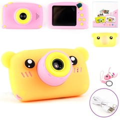 Детский фотоаппарат Мишка оранжевый
