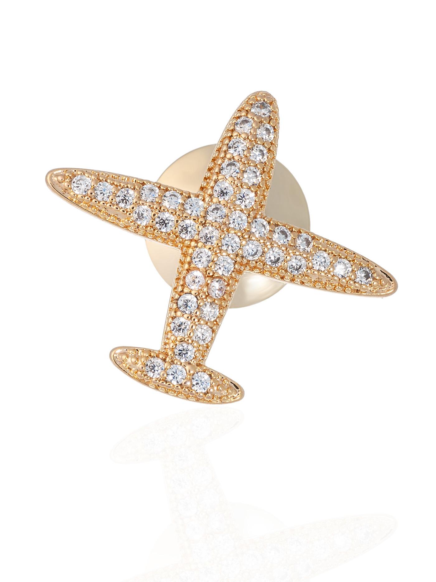 Мини-брошь-значок Самолет, подарок стюардессе