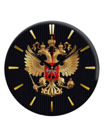 Часы настенные с символикой России/ Часы стеклянные интерьерные