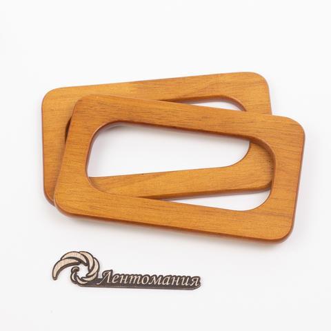 Деревянные ручки из массива для сумки N18 светло-коричневые