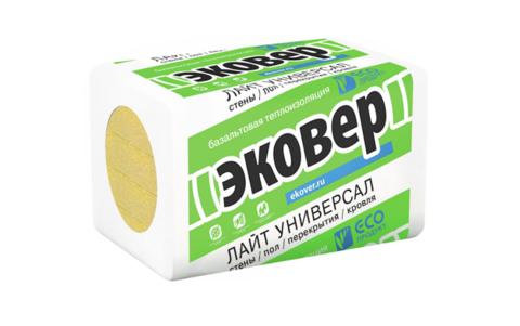 Эковер Лайт Универсал 28 кг/м3 1000х600х50 8 шт