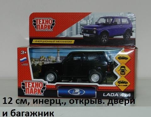 Машина мет. LADA4X4-BK Лада 4х4 черный Технопарк