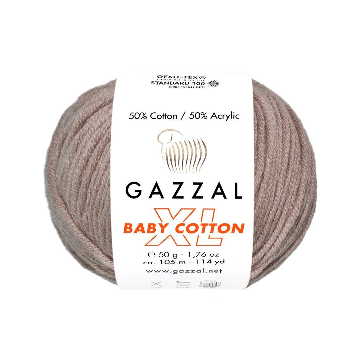 Пряжа Gazzal Baby Cotton XL 3434 мокко