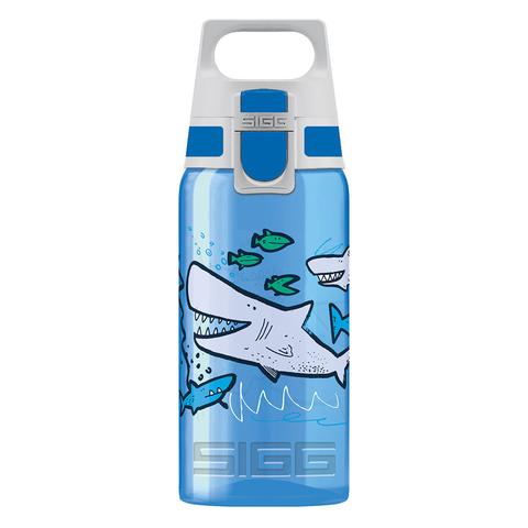 Бутылочка детская Sigg Viva One Sharkies (0,5 литра), голубая