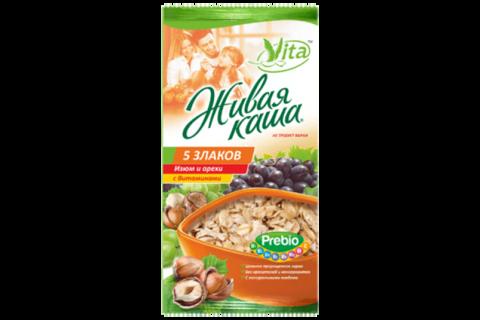 Vita живая каша 5 злаков с изюмом и орехами (6 шт по 35 гр)