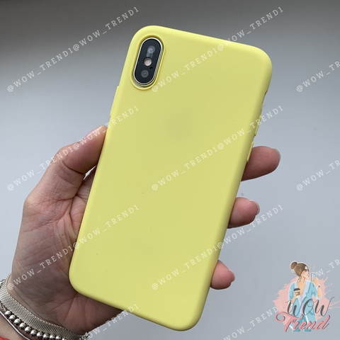 Чехол iPhone XS Silicone Slim Case /flash/ No Logo