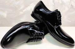 Строгие мужские туфли классика лаковые Ikoc 2118-6 Patent Black Leather