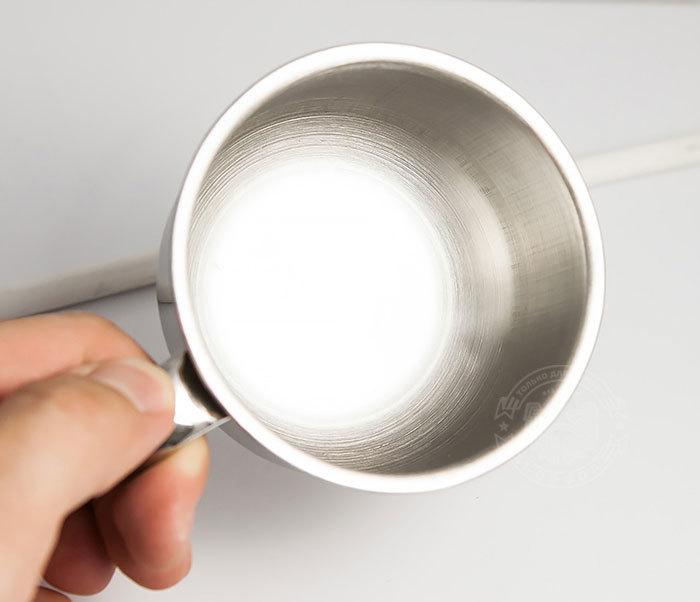 RAZ311 Чаша для бритья из стали с ручкой фото 07