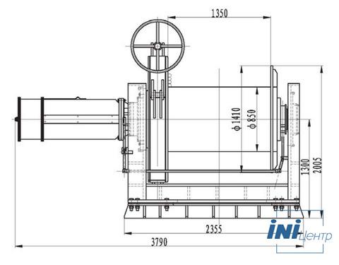 Компактная электрическая лебедка IDJ479-120-350-43 (6.4)