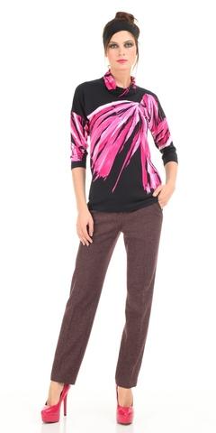 Фото коричневые брюки прямого покроя с врезными карманами - Брюки А416-179 (1)