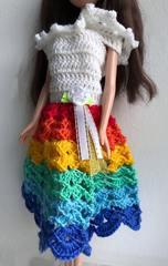 Одежда для кукол Barbie Радужное лето