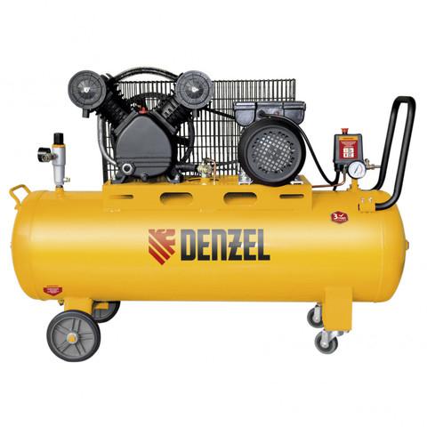 Компрессор DRV2200/100, масляный ременный, 10 бар, производительность 440 л/м, мощность 2.2 кВт Denzel