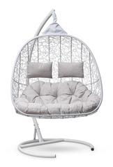Подвесное кресло для двоих SEVILLA TWIN белое