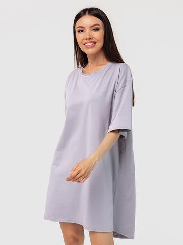Платье-футболка хлопковое серое YOS