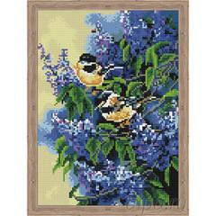 Aлмазная мозаика Птички в сирени