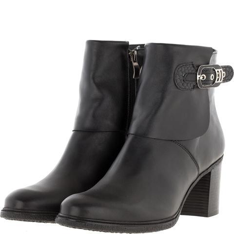 638409 Полусапожки женские черные кожа. КупиРазмер — обувь больших размеров марки Делфино