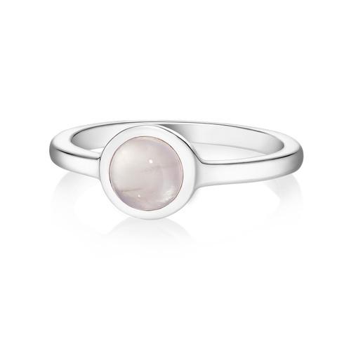 Кольцо ALPHA - Розовый кварц