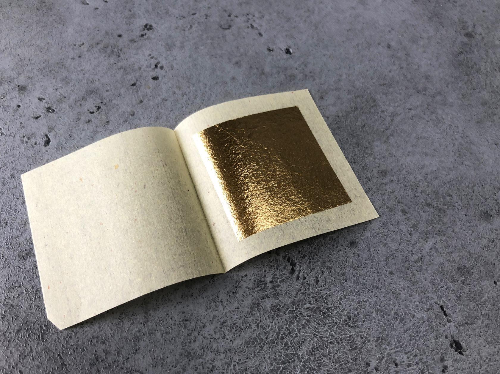 Пищевое золото 40х40 мм, 2 шт