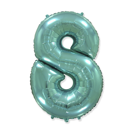 Фольгированная цифра 8, тиффани