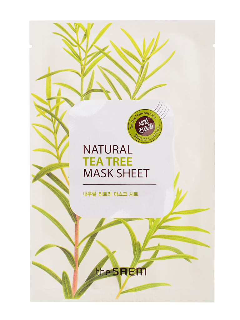 Увлажняющие Маска для лица тканевая с экстрактом чайного дерева Natural Tea Tree Mask Sheet i16592_1484596767_10.jpg