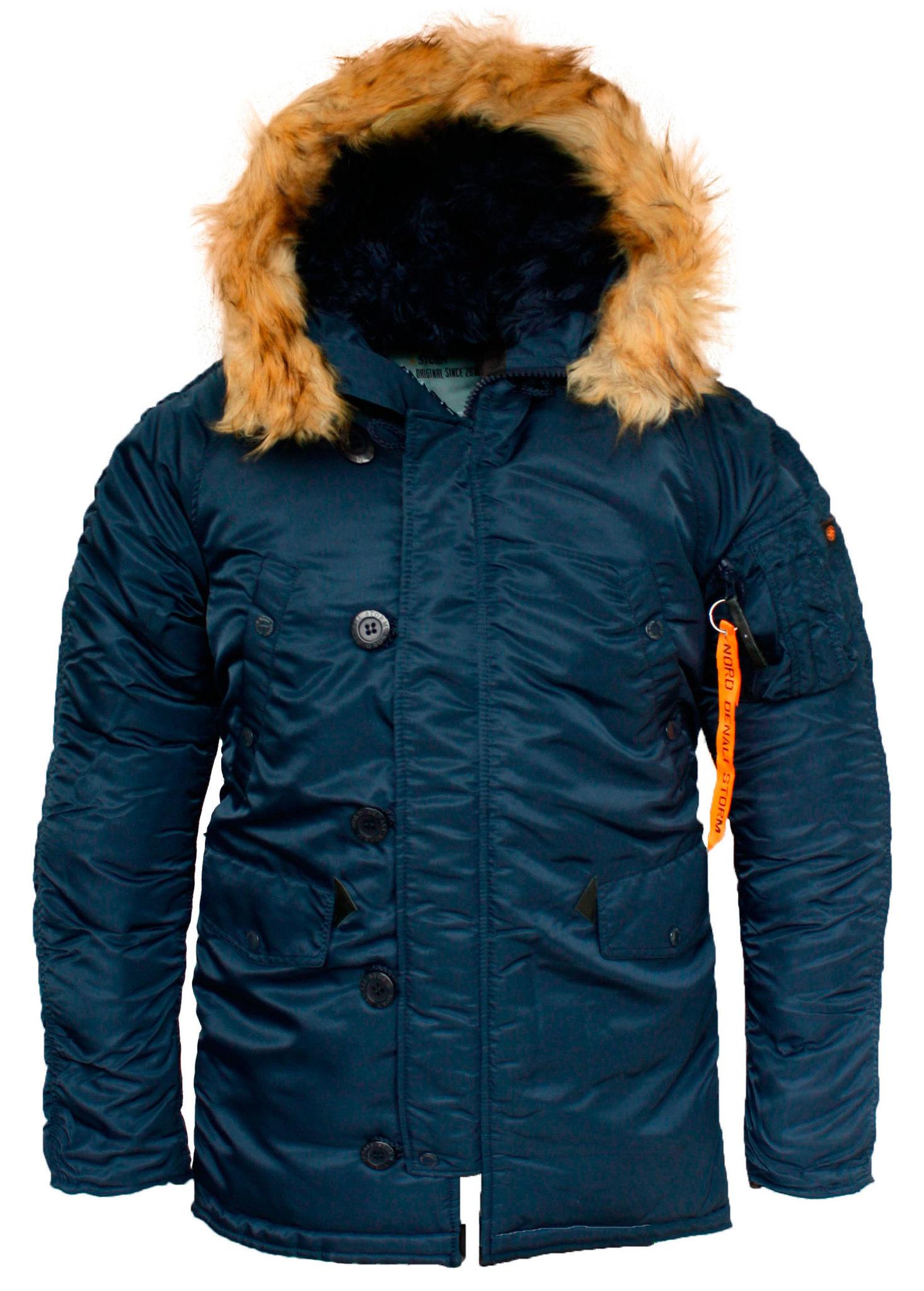 Куртка Аляска N-3B  Husky Denali (синяя - r.blue/r.blue)