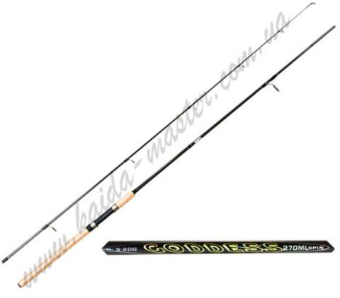 Спиннинг Kaida Goddes 2,4 метра, тест 10-30 гр