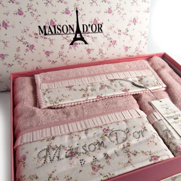 Наборы полотенец Набор полотенец  ROSES - РОСЭС 3пр 30х50 50х100 и 70х140 Maison Dor (Турция) Roses-Roses-600x600.jpg