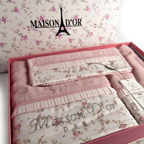 Набор полотенец  ROSES - РОСЭС 3пр 30х50 50х100 и 70х140 Maison Dor (Турция)