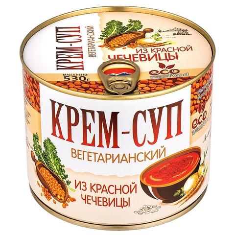 Крем-суп вегетарианский из красной чечевицы Ecofood, 530г