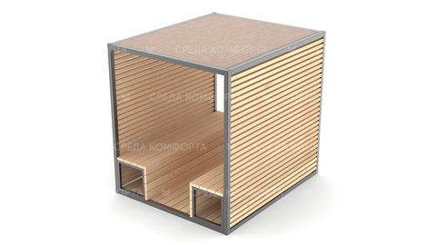 Скамейка с навесом SCAM0105