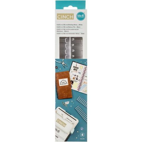 Набор пружин для биндера- ( диаметр 1,58 см )- We R Memory Keepers Cinch Wires - 4 шт- Цвет White
