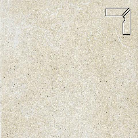 Interbau - Alpen, Bernardino/Кристальный песок, цвет 043 - Клинкерный плинтус ступени правый, 3 части