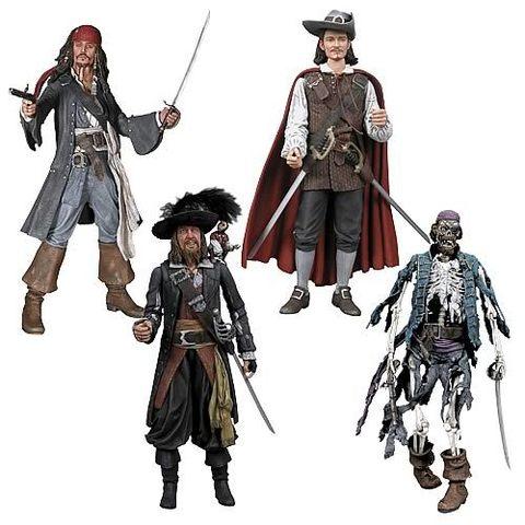 Пираты Карибского моря Проклятие Черной жемчужины фигурки серия 01