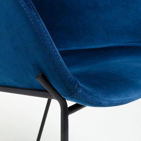 Кресло Zadine бархат синий